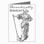 Domestically Disabled Greeting Card