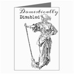 Domestically Disabled Greeting Card (8 Pack)
