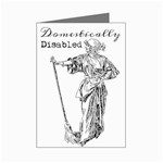 Domestically Disabled Mini Greeting Card (8 Pack)