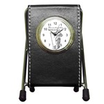 Domestically Disabled Stationery Holder Clock