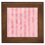 Pink Grunge Framed Ceramic Tile