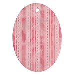 Pink Grunge Oval Ornament