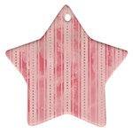 Pink Grunge Star Ornament