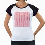 Pink Grunge Women s Cap Sleeve T-Shirt (White)