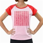 Pink Grunge Women s Cap Sleeve T-Shirt (Colored)
