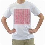 Pink Grunge Men s Two-sided T-shirt (White)