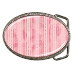 Pink Grunge Belt Buckle (Oval)