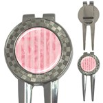 Pink Grunge Golf Pitchfork & Ball Marker