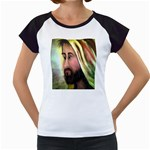 Jesus - Eyes of Compassion - Ave Hurley - Women s Cap Sleeve T