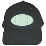 Hearts & Stripes Black Baseball Cap