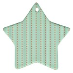 Hearts & Stripes Star Ornament