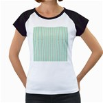Hearts & Stripes Women s Cap Sleeve T-Shirt (White)