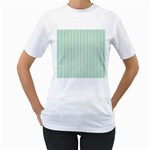 Hearts & Stripes Women s Two-sided T-shirt (White)