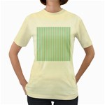 Hearts & Stripes Women s T-shirt (Yellow)