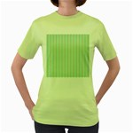 Hearts & Stripes Women s T-shirt (Green)