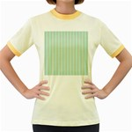 Hearts & Stripes Women s Ringer T-shirt (Colored)