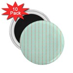 Hearts & Stripes 2.25  Button Magnet (10 pack)