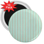 Hearts & Stripes 3  Button Magnet (10 pack)