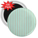 Hearts & Stripes 3  Button Magnet (100 pack)
