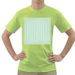 Hearts & Stripes Men s T-shirt (Green)