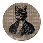 Harlequin Cat 8  Mouse Pad (Round)