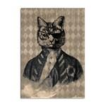 Harlequin Cat A4 Sticker 10 Pack