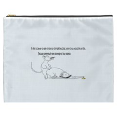 Better To Take Time To Think Cosmetic Bag (xxxl) by Doudy