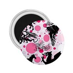 Fantasy In Pink 2.25  Button Magnet