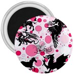 Fantasy In Pink 3  Button Magnet