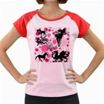 Fantasy In Pink Women s Cap Sleeve T-Shirt (Colored)