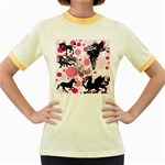 Fantasy In Pink Women s Ringer T-shirt (Colored)