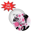 Fantasy In Pink 1.75  Button (100 pack)