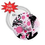 Fantasy In Pink 2.25  Button (100 pack)