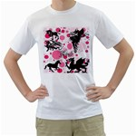 Fantasy In Pink Men s Two-sided T-shirt (White)