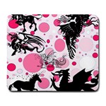 Fantasy In Pink Large Mouse Pad (Rectangle)