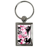 Fantasy In Pink Key Chain (Rectangle)