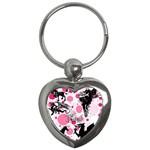 Fantasy In Pink Key Chain (Heart)