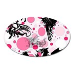 Fantasy In Pink Magnet (Oval)