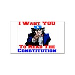 Read The Constitution Sticker (Rectangular)