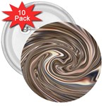 Precious Metals Disorganized Fractal 3  Button (10 pack)