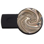 Precious Metals Disorganized Fractal USB Flash Drive Round (1 GB)