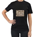 Precious Metals Disorganized Fractal Women s Black T-Shirt