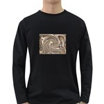 Precious Metals Disorganized Fractal Long Sleeve Dark T-Shirt