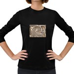 Precious Metals Disorganized Fractal Women s Long Sleeve Dark T-Shirt