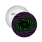 Neon Pink and Green Dizzy Fractal 2.25  Button