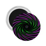 Neon Pink and Green Dizzy Fractal 2.25  Magnet