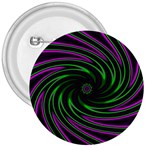 Neon Pink and Green Dizzy Fractal 3  Button