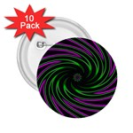 Neon Pink and Green Dizzy Fractal 2.25  Button (10 pack)