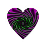 Neon Pink and Green Dizzy Fractal Magnet (Heart)