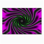 Neon Pink and Green Dizzy Fractal Postcard 4  x 6